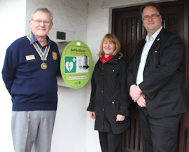 Defibrillator at Bolton-le-Sands Surgery